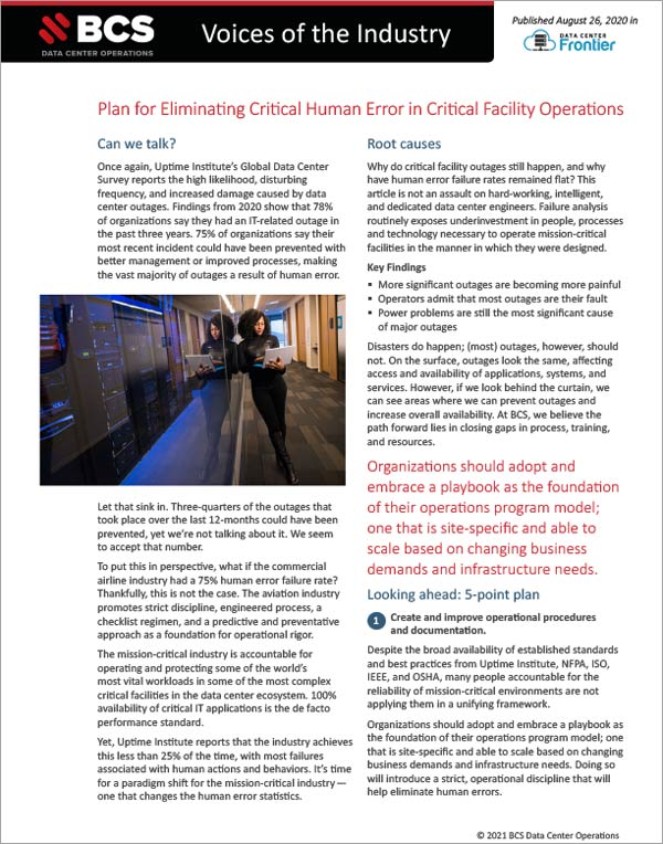 Voices Industry - Eliminating Critical Human Error PDF
